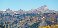 Wetterhorn, Matterhorn, Point 13,158, and Uncompahgre Peak from Slumgullion Pass