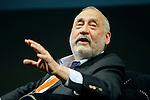 Nobel Prize in Economic Sciences Joseph E. Stiglitz attends the Festival of Economics in Trento, Italy, on May 29, 2015.