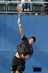 22 March 2015: Wake Forest Jon Ho. The Duke University Blue Devils hosted the Wake Forest University Demon Deacons at Ambler Stadium in Durham, North Carolina in a 2014-15 NCAA Division I Men's Tennis match. Duke won the match 4-3.