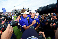 30th September 2018, National Golf Centre, Guyancourt, Yvelines department in the Île-de-France,  north-central France; 42nd Ryder Cup tournament, Europe versus USA;  Ian Poulter of England (Team Europe) and Sergio Garcia of Spain (Team Europe)