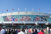 The RBC Center prior to the 2011 NHL All-Star Game in Raleigh, NC, 1/30/2011.