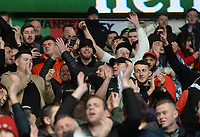 Sheffield United player Oli McBurnie stands in amongst the Swansea City fans prior to kick off<br /> <br /> Photographer Ian Cook/CameraSport<br /> <br /> The EFL Sky Bet Championship - Cardiff City v Swansea City - Sunday 12th January 2020 - Cardiff City Stadium - Cardiff<br /> <br /> World Copyright © 2020 CameraSport. All rights reserved. 43 Linden Ave. Countesthorpe. Leicester. England. LE8 5PG - Tel: +44 (0) 116 277 4147 - admin@camerasport.com - www.camerasport.com