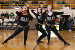 February 20, 2015- Tuscola, IL- Warriorettes Seniors Wendy Guo, Sarah Lemke, and Glenda Wold perform their final routine. [Photo: Douglas Cottle]