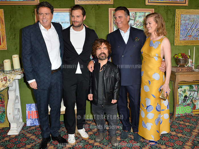 LOS ANGELES, CA. October 04, 2018: Sacha Gervasi, Jamie Dornan, Peter Dinklage, Andy Garcia &amp; Mireille Enos at the Los Angeles premiere for &quot;My Dinner With Herve&quot; at Paramount Studios.<br /> Picture: Paul Smith/Featureflash