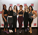 Kelli Barrett with the female ensemble attend the Meet and Greet for Broadway's 'Gettin' the Band Back Together' on May 4, 2018 at Manhattan Movement & Arts Center in New York City.