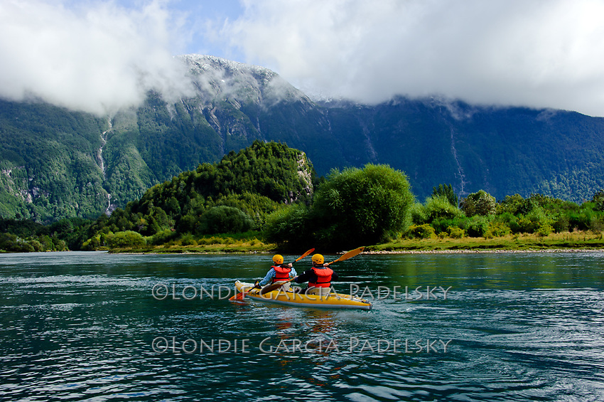 Kayaking the Lower Futalefu River, Los Lagos Region,  Patagonia, Chile, South America