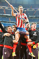 Gabi with a Flag, celebrates Spanish Cup title 2013 with supporters