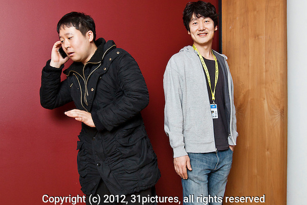 The Netherlands, Rotterdam, 26 January 2012. The International Film Festival Rotterdam 2012. Portrait director Park Hong-Min (left), cast Kim Sun-Bin, South Korean feature film A Fish. Photo: 31pictures.nl / (c) 2012, www.31pictures.nl Copyright and ownership by photographer. FOR IFFR USE ONLY. Not to be (re-)distributed in any form. Copyright and ownership by photographer. FOR IFFR USE ONLY. Not to be (re-)distributed in any form.