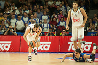 Real Madrid´s Rudy Fernandez and Anadolu Efes´s Dario Saric during 2014-15 Euroleague Basketball match between Real Madrid and Anadolu Efes at Palacio de los Deportes stadium in Madrid, Spain. December 18, 2014. (ALTERPHOTOS/Luis Fernandez) /NortePhoto /NortePhoto.com