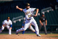 Mesa Solar Sox pitcher Trey Cochran-Gill (26), of the Oakland Athletics organization, during a game against the Surprise Saguaros on October 14, 2016 at Sloan Park in Mesa, Arizona.  Mesa defeated Surprise 10-4.  (Mike Janes/Four Seam Images)