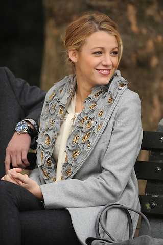 Blake Lively on the set of Gossip Girl in New York City. October 14, 2009.. Credit: Dennis Van Tine/MediaPunch