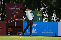 Joel Girrbach (SUI) during round 2, Ras Al Khaimah Challenge Tour Grand Final played at Al Hamra Golf Club, Ras Al Khaimah, UAE. 01/11/2018<br /> Picture: Golffile | Phil Inglis<br /> <br /> All photo usage must carry mandatory copyright credit (&copy; Golffile | Phil Inglis)