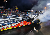 Jul 21, 2017; Morrison, CO, USA; NHRA top fuel driver Doug Kalitta during qualifying for the Mile High Nationals at Bandimere Speedway. Mandatory Credit: Mark J. Rebilas-USA TODAY Sports