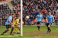 Taylor Moore of Southend United scores an own goal<br /> <br /> Photographer Richard Martin-Roberts/CameraSport<br /> <br /> The EFL Sky Bet League One - Blackpool v Southend United - Saturday 9th March 2019 - Bloomfield Road - Blackpool<br /> <br /> World Copyright © 2019 CameraSport. All rights reserved. 43 Linden Ave. Countesthorpe. Leicester. England. LE8 5PG - Tel: +44 (0) 116 277 4147 - admin@camerasport.com - www.camerasport.com