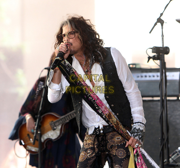NEW YORK, NY-June 24: Steven Tyler perform on NBC's Today Show Citi Concert Series at Rockefeller Center in New York. NY June 24, 2016.<br /> CAP/MPI/RW<br /> &copy;RW/MPI/Capital Pictures