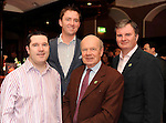 Peter Collins, Academy Plaza Hotel, Stephen Hanna, Camden Court Hotel, Lee Kidney, Lee Hotels and Alan Moody, Ashling Hotel Dublin, at the Irish Hotels Federation Conference 'President's Dine Around' event in The  Killarney Park Hotel  on Monday  night. Picture: MacMonagle, Killarney