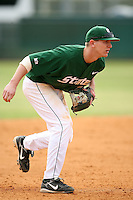 February 22, 2009:  Third baseman Chris Roberts (21) of Michigan State University during the Big East-Big Ten Challenge at Naimoli Complex in St. Petersburg, FL.  Photo by:  Mike Janes/Four Seam Images