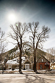 USA, Colorado, Aspen, Main Street downtown Aspen in the afternoon