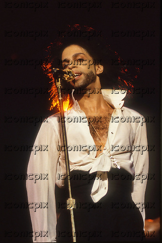 PRINCE - performing live at the Rock in Rio II in the Maracana Stadium in Rio de Janeiro Brazil - 18 Jan 1991.  Photo credit: George Chin/IconicPix