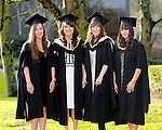 REPRO FREE<br /> 20/01/2015<br /> Michaella Lynch, Bandon, Co. Cork, Ann Marie Reidy, Ballyheigue, Co. Kerry, Carla Brown, Cobh, Co. Cork and Vivienne McNamara, Newmarket on Fergus, Co. Clare who graduated with Masters in International Management and Global Business as the University of Limerick continues three days of Winter conferring ceremonies which will see 1831 students conferring, including 74 PhDs. <br /> UL President, Professor Don Barry highlighted the increasing growth in demand for UL graduates by employers and the institution&rsquo;s position as Sunday Times University of the Year. <br /> Picture: Don Moloney / Press 22