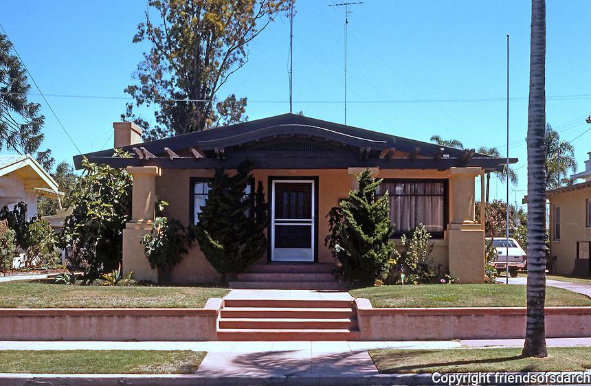 San Diego: California Bungalow, c. 1920. Hillcrest.