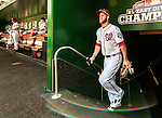 25 July 2013: Washington Nationals outfielder Bryce Harper emerges from the clubhouse prior to a game against the Pittsburgh Pirates at Nationals Park in Washington, DC. The Nationals salvaged the last game of their series, winning 9-7 ending their 6-game losing streak. Mandatory Credit: Ed Wolfstein Photo *** RAW (NEF) Image File Available ***