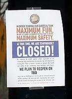 MAR 27 Baltimore Maryland empty due to coronavirus pandemic
