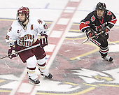 Stephen Gionta, Bryan Esner - The Boston College Eagles defeated Northeastern University Huskies 5-3 on Saturday, November 19, 2005, at Kelley Rink in Conte Forum at Chestnut Hill, MA.