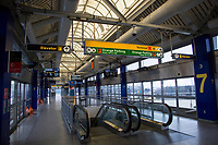 NEW YORK, NY - MARCH 13: View of one of the air train terminal of the John F. Kennedy Airport in New York on March 13, 2020. in New York City. President Donald Trump cancels all flights between Europe and the United States this Friday, due to the expansion of the Covic-19. 118,000 cases of coronavirus exist worldwide and more than 4,000 deaths go so far according to the WHO. (Photo by Pablo Monsalve / VIEWpress via Getty Images)