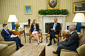 United States President Barack Obama makes remarks to the media after receiving a briefing on the ongoing response to the Zika virus crisis from members of his public health team including US Secretary of Health and Human Services Sylvia Mathews Burwell, center left, Director of NIH/NIAID Dr. Anthony Fauci, right, and Director of the Centers for Disease Control and Prevention Dr. Tom Frieden, left, in the Oval Office of the White House in Washington, DC on Friday, July 1, 2016.  In his remarks, the President called on Congress to pass the funding bill to fight the virus before adjourning for the summer in two weeks.<br /> Credit: Ron Sachs / Pool via CNP