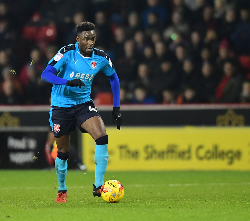 Fleetwood Town's Devante Cole<br /> <br /> Photographer Chris Vaughan/CameraSport<br /> <br /> The EFL Sky Bet League One - Sheffield United v Fleetwood Town - Tuesday 24th January 2017 - Bramall Lane - Sheffield<br /> <br /> World Copyright &copy; 2017 CameraSport. All rights reserved. 43 Linden Ave. Countesthorpe. Leicester. England. LE8 5PG - Tel: +44 (0) 116 277 4147 - admin@camerasport.com - www.camerasport.com