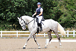 Stapleford Abbotts. United Kingdom. 03 August 2019. Class 6. Unaffiliated dressage. Brook Farm training centre. UK.~ 03/08/2019.  MANDATORY Credit Ellen Szalai/Sport in Pictures - NO UNAUTHORISED USE - 07837 394578