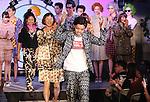 October 21, 2016, Tokyo, Japan - Japanese designer Yukihiro Teshima (C) and models react to audience at the Yukihero Pro-Wrestling x Yumemiru Adolescence 2017 spring/summer collection in Tokyo as a part of Japan Fashion Week on Friday, October 21, 2016.   (Photo by Yoshio Tsunoda/AFLO) LWX -ytd-