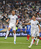 Harry Kane (Tottenham Hotspur) of England celebrates his equalising goal with Gary Cahill (Chelsea) of England during the International Friendly match between France and England at Stade de France, Paris, France on 13 June 2017. Photo by David Horn/PRiME Media Images.