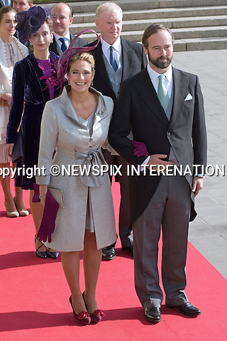 """COUNT AND COUNTESS CHRISTIAN DE LANNOY OF LUXEMBOURG.Religious Wedding Ceremony of HRH the Hereditary Grand Duke and Countess Stéphanie de Lannoy at Cathedral of Our lady of Luxembourg, Luxembourg_20-10-2012.Mandatory credit photo: ©Dias/NEWSPIX INTERNATIONAL..(Failure to credit will incur a surcharge of 100% of reproduction fees)..                **ALL FEES PAYABLE TO: """"NEWSPIX INTERNATIONAL""""**..IMMEDIATE CONFIRMATION OF USAGE REQUIRED:.Newspix International, 31 Chinnery Hill, Bishop's Stortford, ENGLAND CM23 3PS.Tel:+441279 324672  ; Fax: +441279656877.Mobile:  07775681153.e-mail: info@newspixinternational.co.uk"""