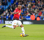 3rd February 2019, King Power Stadium, Leicester, England; EPL Premier League Football, Leicester City versus Manchester United; Ashley Young of Manchester United crosses the ball