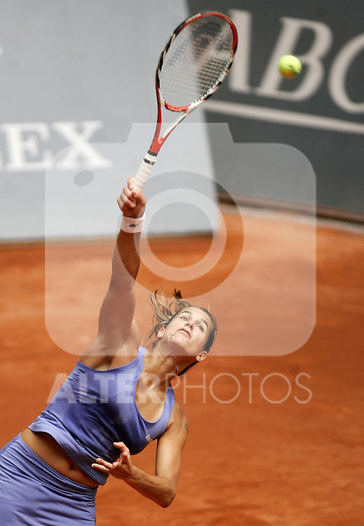 France's Amelie Mauresmo during his Madrid Open first round tennis match. May 11, 2009. (ALTERPHOTOS/Alvaro Hernandez)