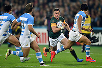 Jesse Kriel of South Africa takes on the Argentina defence. Rugby World Cup Bronze Final between South Africa and Argentina on October 30, 2015 at The Stadium, Queen Elizabeth Olympic Park in London, England. Photo by: Patrick Khachfe / Onside Images