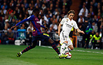 Real Madrid CF's Luka Modric and FC Barcelona's Ousmane Dembele during La Liga match. March 02, 2019. (ALTERPHOTOS/Manu R.B.)