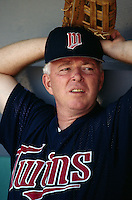 Minnesota Twins Manager Tom Kelly at Anaheim Stadium in Anaheim,California during the 1996 season. (Larry Goren/Four Seam Images)