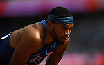 Devon WILLIAMS (USA) in the mens decathlon 100m. IAAF world athletics championships. London Olympic stadium. Queen Elizabeth Olympic park. Stratford. London. UK. 11/08/2017. ~ MANDATORY CREDIT Garry Bowden/SIPPA - NO UNAUTHORISED USE - +44 7837 394578