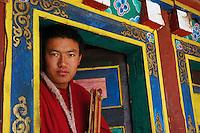 A Buddhist monk in Dege - taken March 20, 2008 - Michael Benanav - 505-579-4046
