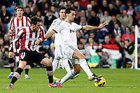 Real Madrid CF vs Athletic Club de Bilbao (5-1) at Santiago Bernabeu stadium. The picture shows Albaro Arbeloa and Ibai Gomez. November 17, 2012. (ALTERPHOTOS/Caro Marin) NortePhoto