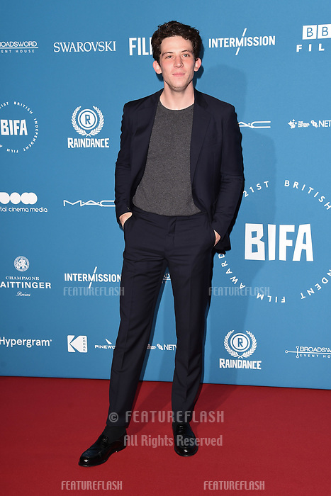 LONDON, UK. December 02, 2018: Josh O'Connor at the British Independent Film Awards 2018 at Old Billingsgate, London.<br /> Picture: Steve Vas/Featureflash