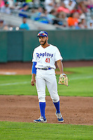 Jared Walker (41) of the Ogden Raptors during the game against the Billings Mustangs in Pioneer League action at Lindquist Field on August 12, 2016 in Ogden, Utah. Billings defeated Ogden 7-6. (Stephen Smith/Four Seam Images)