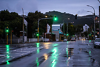 Riddiford Street beside the Wellington Hospital during lockdown for COVID19 pandemic in Wellington, New Zealand on Thursday, 9 April 2020. Photo: Dave Lintott / lintottphoto.co.nz