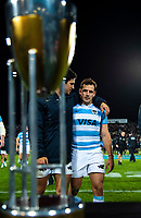 Nicolas Sanchez walks off after the Rugby Championship match between the New Zealand All Blacks and Argentina Pumas at Trafalgar Park in Nelson, New Zealand on Saturday, 8 September 2018. Photo: Dave Lintott / lintottphoto.co.nz