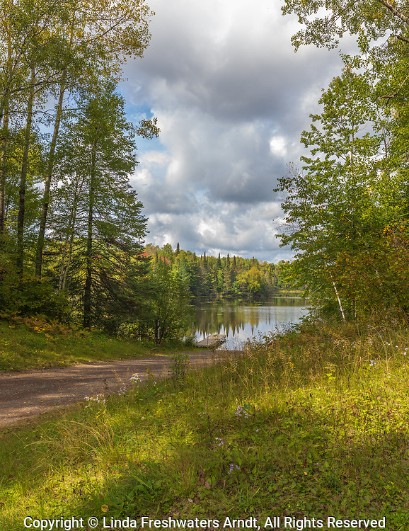 Public boat launch on Day Lake in the Chequamegon National Forest.