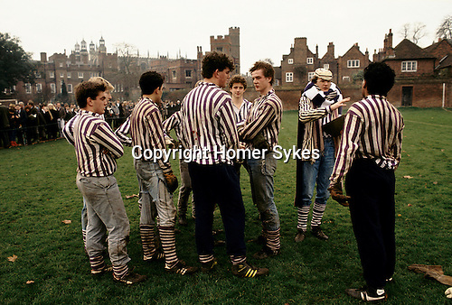 ETON WALL GAME HALF TIME COLLEGERS (GET ED FREE)UNDER 1440 CHARTER OF HENRY VI ETONS FOUNDER