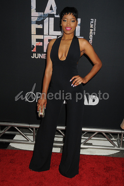 "8 June 2015 - Los Angeles, California - Keke Palmer. LA Film Festival 2015 Premiere of ""Dope"" held at Regal Cinemas L.A. Live. Photo Credit: Byron Purvis/AdMedia"